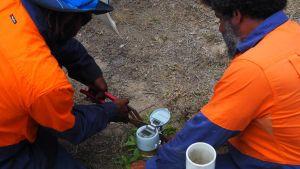 Digital water meter installation